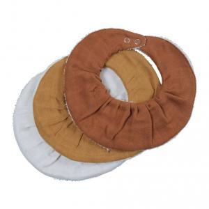 Fabelab - 2006237819 - Set de 3 bavoirs en coton marron (450002)