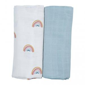 Fabelab - 2006237746 - Swaddle - 2 Pack - Rainbow (450050)