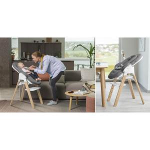 Stokke - BU348 - Sttokke chaise Steps hêtre gris brume et newborn (450870)