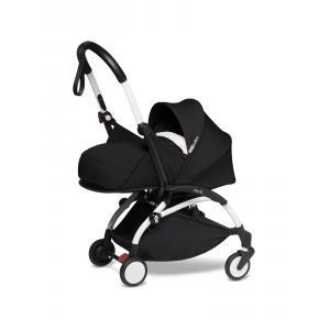 Babyzen - BU594 - poussette YOYO2 maniable noir cadre blance nouveau pack 0+ (451240)