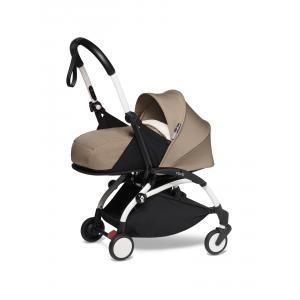 Babyzen - BU597 - YOYO2 poussette taupe bébé face à vous cadre blanc nouveau pack 0+ (451246)