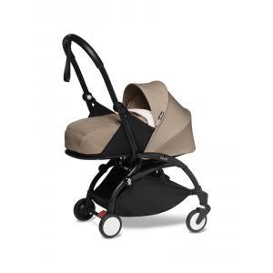 Babyzen - BU606 - Poussette naissance Yoyo 2 taupe cadre noir nouveau pack 0+ (451264)