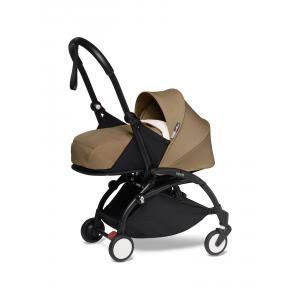 Babyzen - BU607 - Poussette YOYO2 pour bébé dès la naissance toffee cadre noir nouveau pack 0+ (451266)