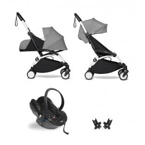 Babyzen - BU629 - Poussette YOYO2 pack voyage gris avec siège auto Besafe iZi Go Modular X1 - blanc 0+ 6+ - Nouveauté (451310)