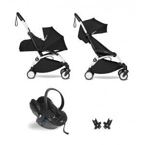 Babyzen - BU630 - YOYO2 pack poussette Babyzen noir avec siège auto iZi Go Modular - blanc 0+ 6+ - Nouveauté (451312)