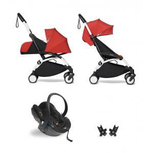 Babyzen - BU632 - Pack YOYO2 dès la naissance rouge avec siège auto iZi Go Modular - blanc 0+ 6+ (451316)