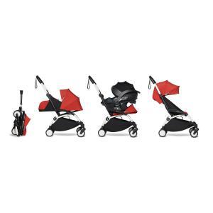 Babyzen - BU632 - Pack YOYO2 dès la naissance rouge avec siège auto iZi Go Modular - blanc 0+ 6+ - Nouveauté (451316)