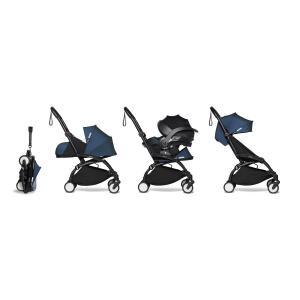 Babyzen - BU636 - poussette YOYO 2 pack trio bleu Air France et siège auto iZi Go Modular - noir 0+ 6+ (451324)