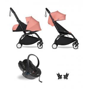 Babyzen - BU637 - YOYO2 pack poussette voyage ginger et siège auto iZi Go Modular - noir 0+ 6+ - Nouveauté (451326)