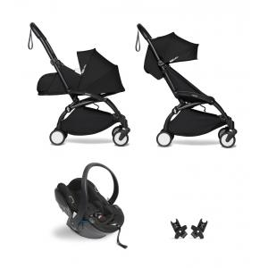 Babyzen - BU639 - Poussette YOYO² 0+ 6+ Noir, siège auto - cadre noir (451330)
