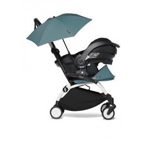 Babyzen - BU644 - Poussette compacte YOYO 2 aqua avec siège auto bébé iZi Go Modular et ombrelle (cadre blanc 0+) (451340)