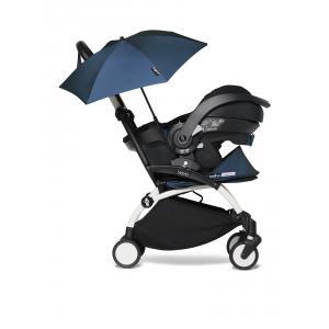 Babyzen - BU645 - Poussette YOYO 2 compacte bleu Air France avec siège auto bébé iZi Go Modular et ombrelle  (cadre blanc 0+) (451342)