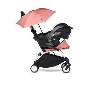 Babyzen - BU646 - Poussette compacte YOYO2 ginger avec siège auto bébé iZi Go Modular et ombrelle (cadre blanc nouveau pack 0+) (451344)