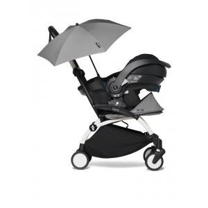 Babyzen - BU647 - Poussette YOYO2 compacte gris avec siège auto bébé iZi Go Modular X1 et ombrelle (cadre blanc nouveau pack 0+) (451346)