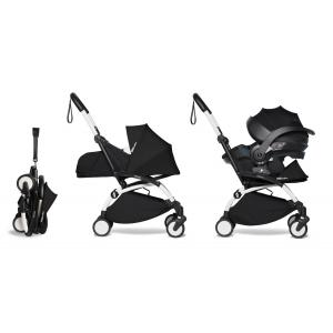 Babyzen - BU648 - YOYO2 poussette compacte avec siège auto pour bébé iZi Go Modular noir et ombrelle (cadre blanc 0+) (451348)