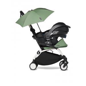 Babyzen - BU649 - YOYO 2 poussette compacte peppermint avec siège auto iZi Go Modular noir et ombrelle (cadre blanc 0+) (451350)