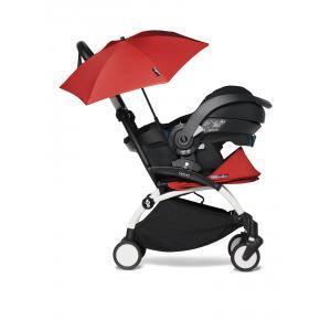 Babyzen - BU650 - Poussette naissance YOYO2 rouge avec siège auto iZi Go Modular et ombrelle (cadre blanc nouveau pack 0+) (451352)