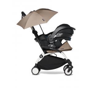 Babyzen - BU651 - Poussette naissance YOYO 2 taupe avec siège auto iZi Go Modular X1 et ombrelle (cadre blanc nouveau pack 0+) (451354)