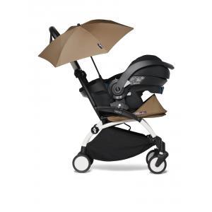 Babyzen - BU652 - YOYO 2 poussette naissance toffee avec siège auto iZi Go Modular et ombrelle (cadre blanc nouveau pack 0+) (451356)