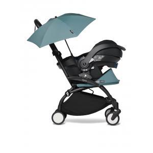 Babyzen - BU653 - YOYO2 poussette naissance aqua avec siège auto iZi Go Modular X1 et ombrelle (cadre noir nouveau pack 0+) (451358)