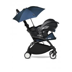 Babyzen - BU654 - YOYO2 poussette naissance babyzen bleu Air France avec siège auto iZi Go Modular et ombrelle (cadre noir 0+) (451360)
