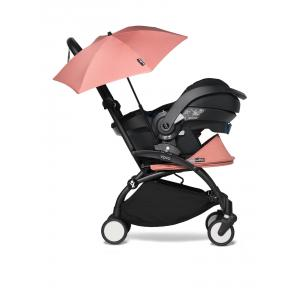 Babyzen - BU655 - YOYO 2 babyzen poussette naissance ginger avec siège auto iZi Go Modular et ombrelle (cadre noir 0+) (451362)