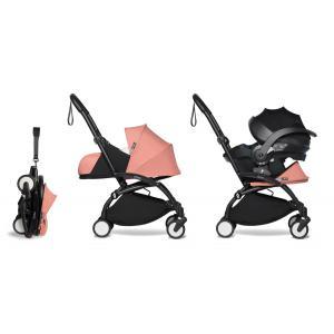 Babyzen - BU655 - YOYO 2 babyzen poussette naissance ginger avec siège auto iZi Go Modular et ombrelle (cadre noir nouveau pack 0+) (451362)