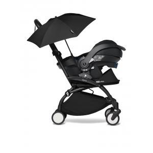 Babyzen - BU657 - YOYO2 babyzen poussette naissance avec siège auto iZi Go Modular et ombrelle noir (cadre noir nouveau pack 0+) (451366)