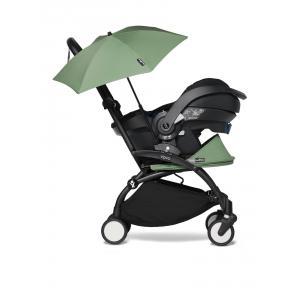 Babyzen - BU658 - YOYO2 poussette naissance babyzen peppermint avec siège auto iZi Go Modular et ombrelle (cadre noir nouveau pack 0+) (451368)