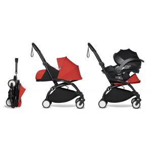 Babyzen - BU659 - Poussette naissance YOYO2 rouge combiné avec siège auto iZi go Modular et ombrelle (cadre noir 0+) (451370)