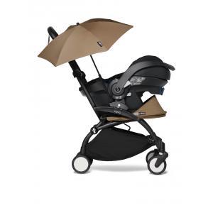 Babyzen - BU661 - Poussette YOYO2 toffee pour naissance avec siège auto iZi go Modular X1 et ombrelle (cadre noir nouveau pack 0+) (451374)