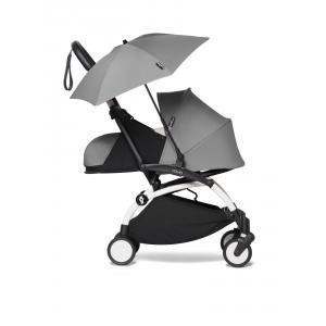 Babyzen - BU665 - YOYO 2 poussette compacte Babyzen avec son ombrelle gris blanc nouveau pack 0+ (451382)
