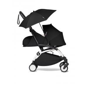 Babyzen - BU666 - Poussette YOYO² 0+ ombrelle Noir - cadre blanc (451384)