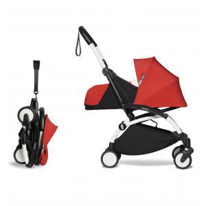 Babyzen - BU668 - Poussette YOYO² 0+ ombrelle Rouge - cadre blanc (451388)