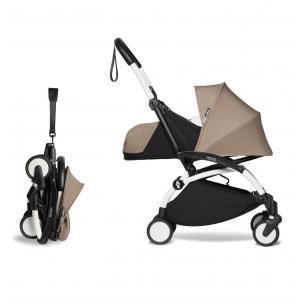 Babyzen - BU669 - Poussette YOYO2 voyage bébé et ombrelle taupe blanc nouveau pack 0+ (451390)