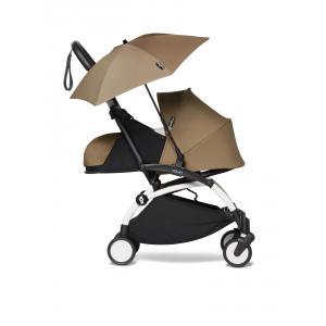 Babyzen - BU670 - Poussette YOYO² 0+ ombrelle Toffee - cadre blanc (451392)