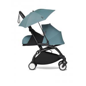 Babyzen - BU671 - Pousette compacte YOYO2 et ombrelle aqua noir nouveau pack 0+ (451394)