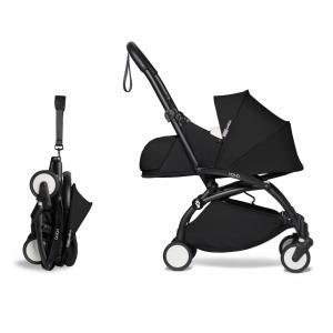 Babyzen - BU675 - Poussette YOYO2 compacte utilisable dès la naissance avec ombrelle noir nouveau pack 0+ (451402)