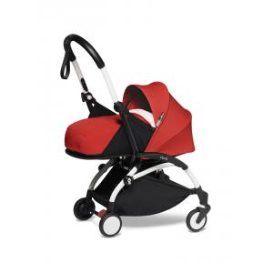 Babyzen - BU686 - Poussette YOYO² 0+ 6+ ombrelle Rouge - cadre blanc (451424)