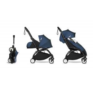 Babyzen - BU708 - Poussette compacte et pratique YOYO 2 Babyzen et chancelière blau Air France noir 0+ 6+ - Nouveauté (451468)