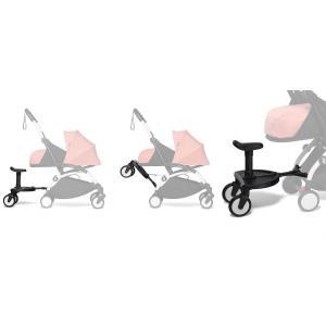 Babyzen - BU719 - YOYO2 poussette naissance Babyzen gris avec planche à roulettes blanc nouveau pack 0+ (451490)