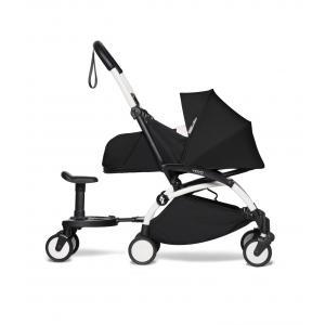 Babyzen - BU720 - Poussette YOYO² 0+ Noir, planche à roulettes - cadre blanc (451492)