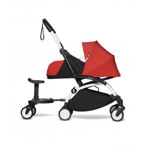 Babyzen - BU722 - Poussette YOYO² 0+ Rouge, planche à roulettes - cadre blanc (451496)