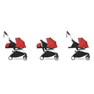 Babyzen - BU722 - Poussette maniable et légère YOYO2 Babyzen rouge et planche à roulettes blanc nouveau pack 0+ (451496)