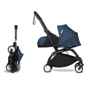 Babyzen - BU762 - Poussette YOYO² 0+ 6+ Bleu Air France, planche à roulettes - cadre noir (451522)