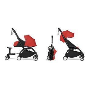 Babyzen - BU767 - Poussette YOYO² 0+ 6+ Rouge, planche à roulettes - cadre noir (451532)