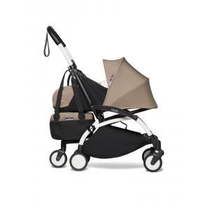 Babyzen - BU777 - poussette maniable YOYO2 et sac shopping taupe blanc nouveau pack 0+ (451552)