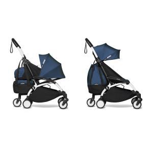 Babyzen - BU789 - Poussette dès la naissance 2 en 1 avec Yoyo+ shopping bag bleu Air France blanc 0+ 6+ - Nouveauté (451576)