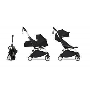 Babyzen - BU810 - Poussette maniable et compacte YOYO2 Babyzen noir et repose-pieds blanc 0+ 6+ - Nouveauté (451618)
