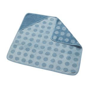 Leander - 510804-64 - Cape de bain en coton BIO, Bleu Pastel (452232)